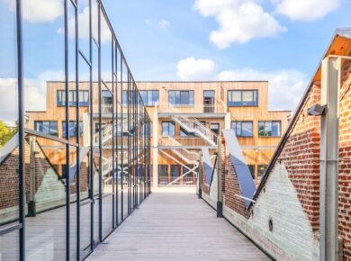 ÀRTER ARCHITECTS - École Active - Transformation and extension of a secondary school with a fitness room ©Arter