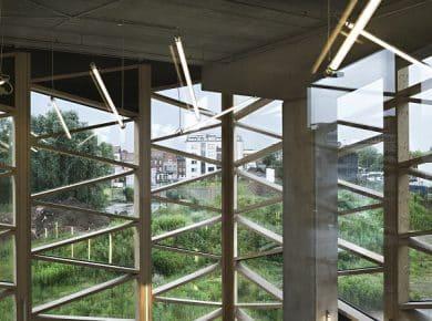 architectesassoc. - Uitzicht vanaf een vergaderzaal Photo©Renaud Callebaut