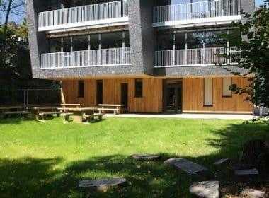 Ariade Architectes - Façade Sud - Accès au bâtiment