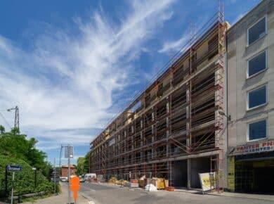 una|a - Pavillon : Construction site 2020