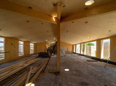 una|a - Pavillon : CLT extension