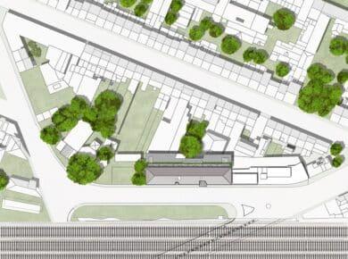 una|a - Pavillon : Ioana Pavillon site plan
